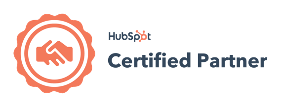 HubSpot certified partner badge dark