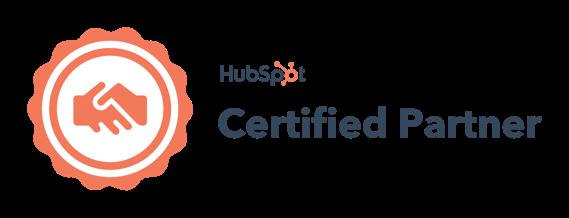 HubSpot certified partner badge dark