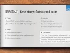 Outsourced sales for Subaru WRC Spares