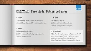 Subaru WRC Spares Outsourced Sales Case Study