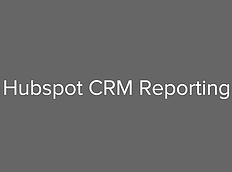HubSpot CRM Reporting