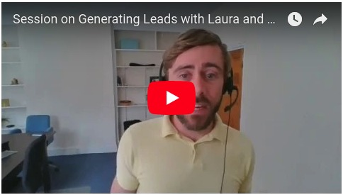 VIDEO - Session about Generating Leads with Laura and James at The Tree Group