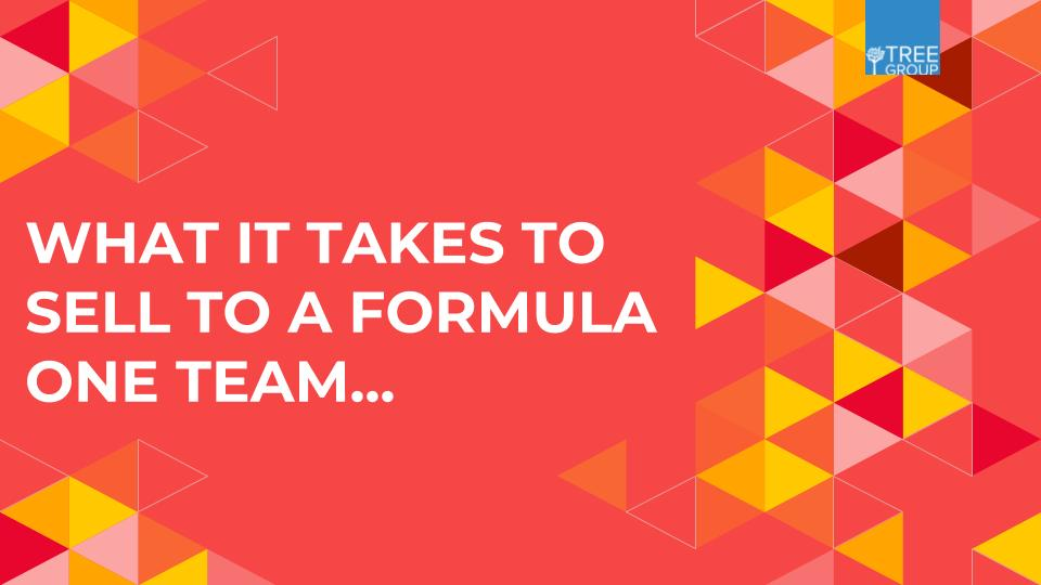 What it takes to sell to a Formula One team...